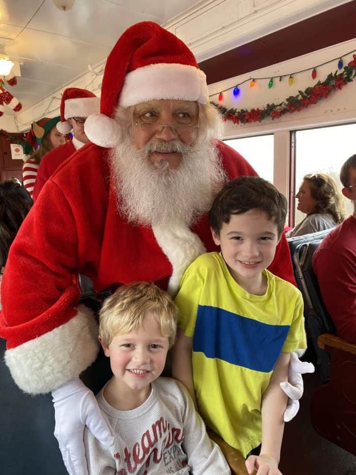 Visit from Santa on the Everett Railroad