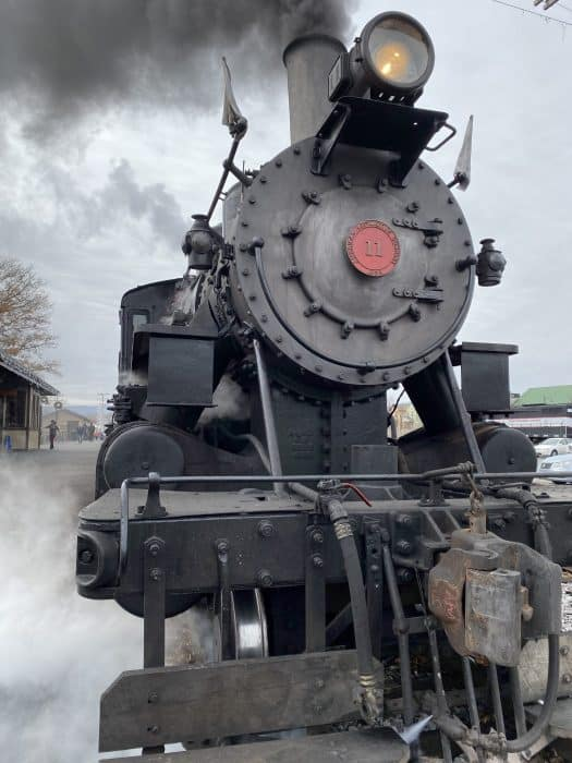 Everett Railroad Steam Engine #11 in the station