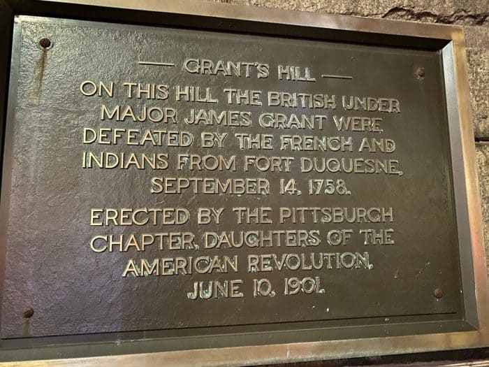 Grants Hill Plaque