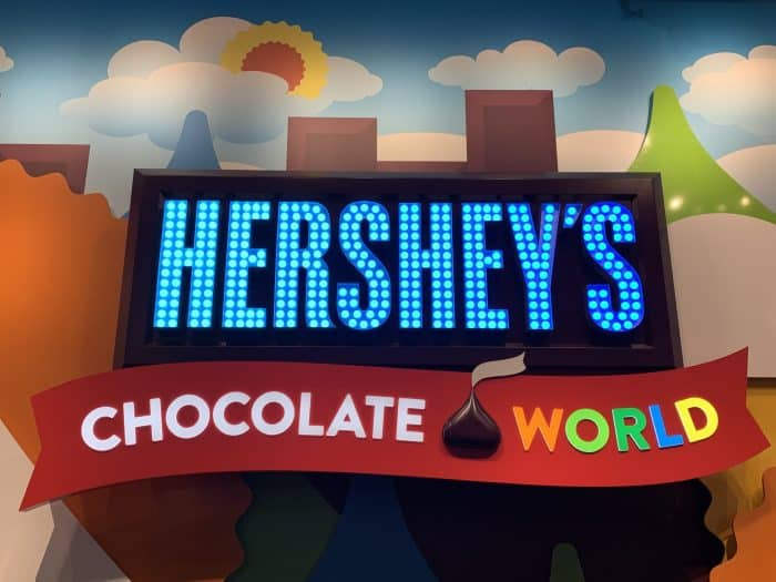 Hershey's Chocolate World Sign