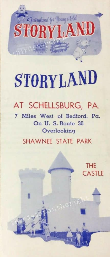 Brochure from Storyland in Schellsburg