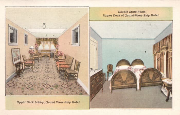 State Rooms for the Ship Hotel