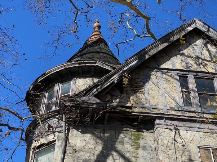 Steeple on top of the house