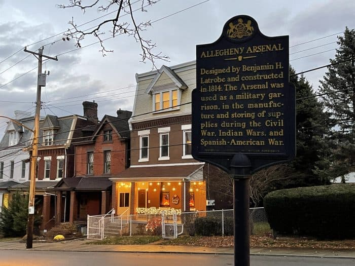 Allegheny Arsenal Historical Plaque