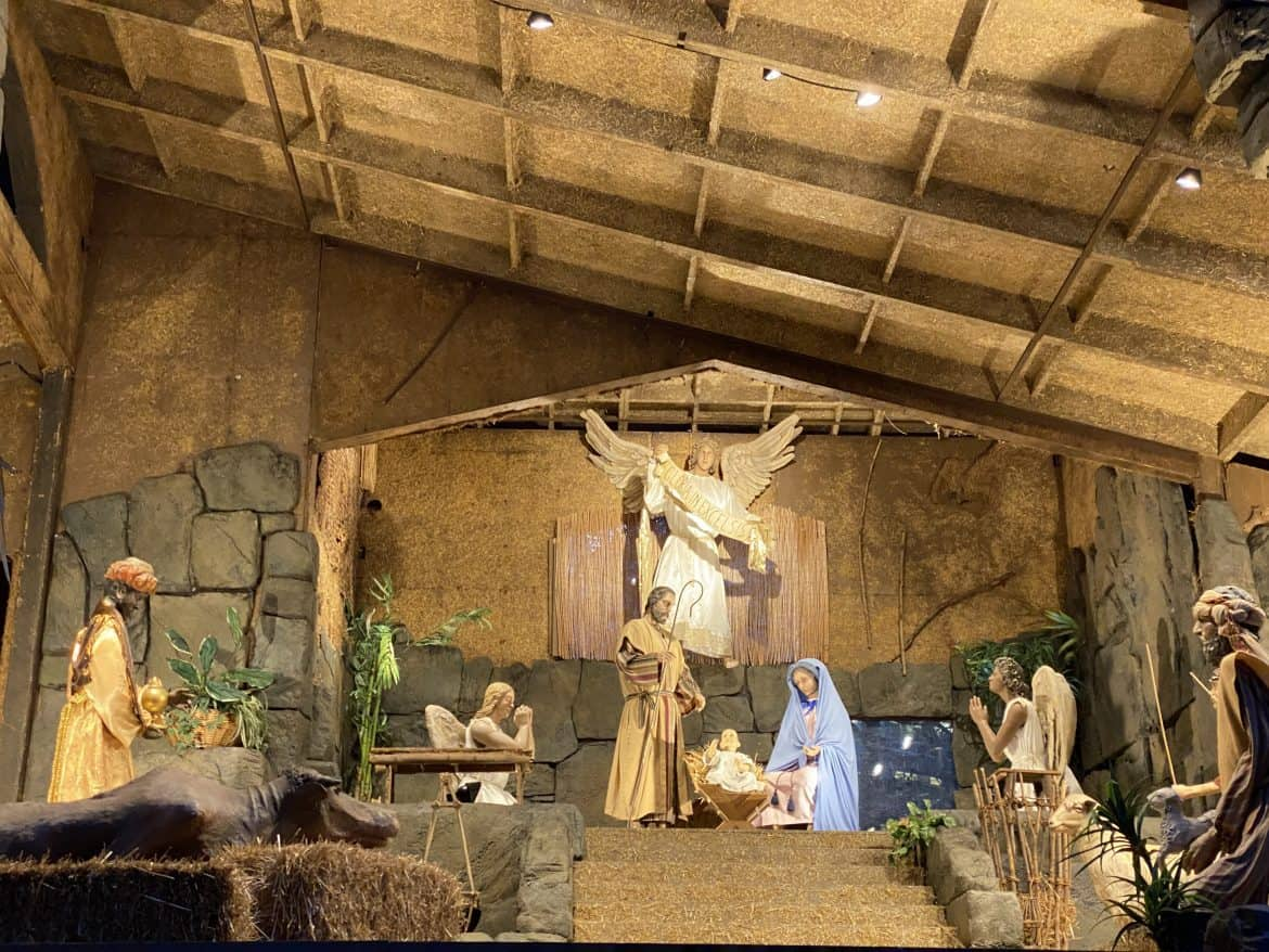 Holy Family guarded by an angel in the Pittsburgh Creche
