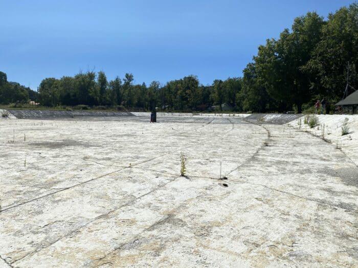 Empty Ligonier Beach Pool
