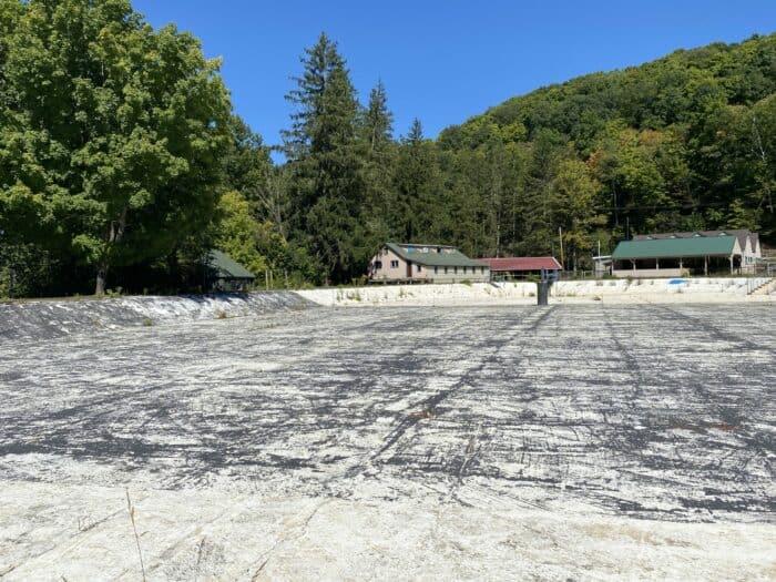 Empty Ligonier Beach Swimming Pool
